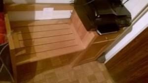 Banc intérieur en bois