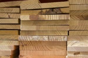 Stock de bois de menuiserie