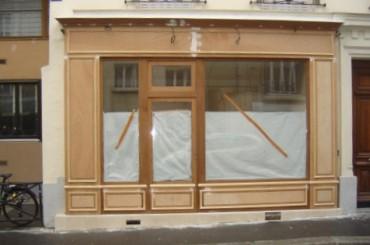Construction de vitrines en bois à Lutry