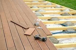 Construction de terrasses en bois